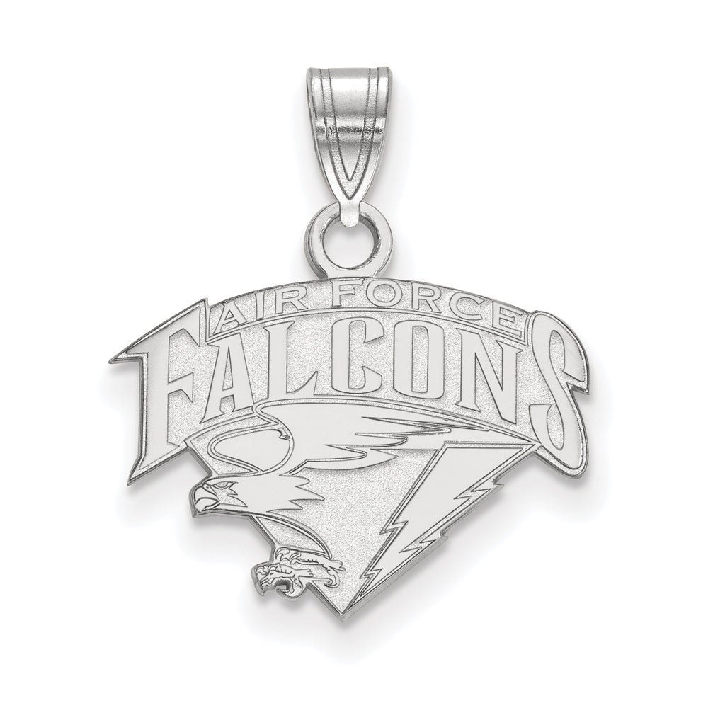NCAA 14k White Gold Air force Academy Small Pendant, Item P20403 by The Black Bow Jewelry Co.