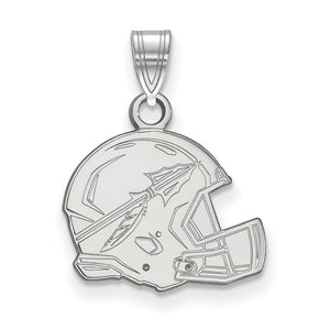 NCAA 14k White Gold Florida State Small Pendant - The Black Bow Jewelry Co.