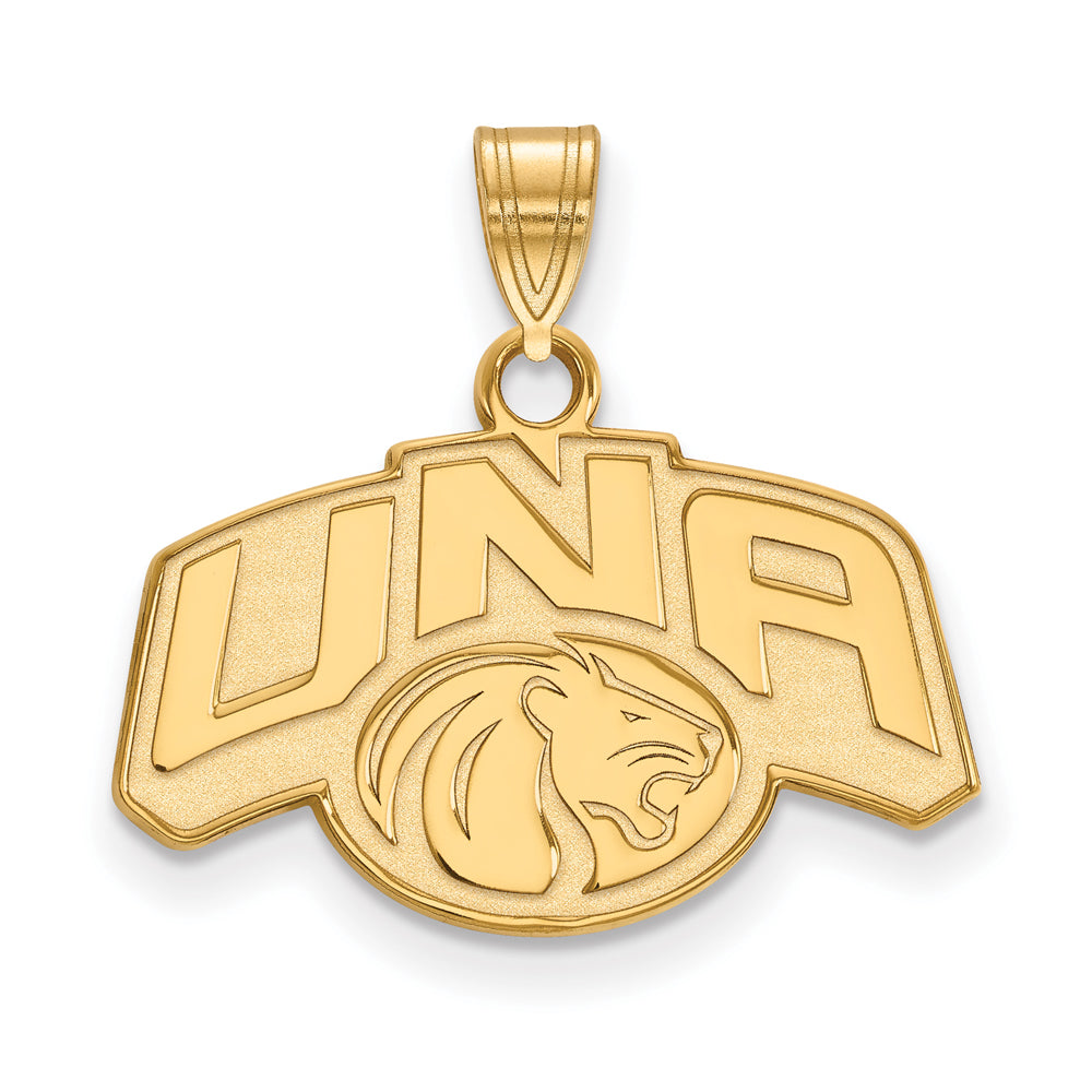 NCAA 14k Yellow Gold Northern Alabama Small Pendant, Item P20543 by The Black Bow Jewelry Co.