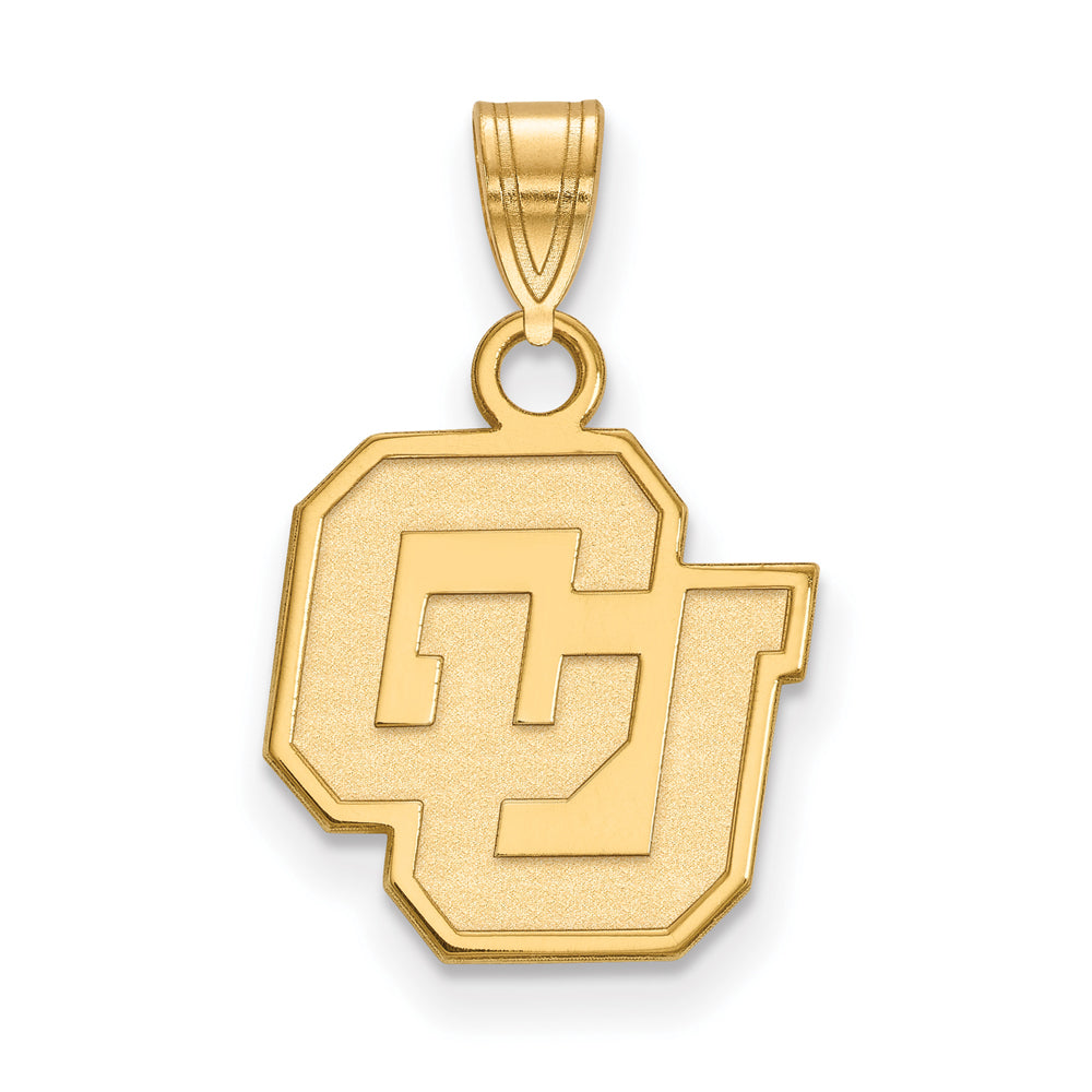NCAA 14k Yellow Gold U of Colorado Small Pendant, Item P20654 by The Black Bow Jewelry Co.