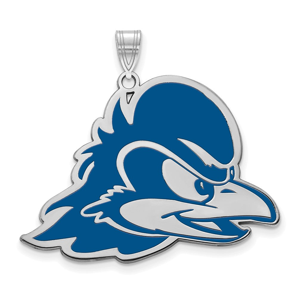 NCAA Sterling Silver U of Delaware XL Enamel Pendant, Item P21386 by The Black Bow Jewelry Co.
