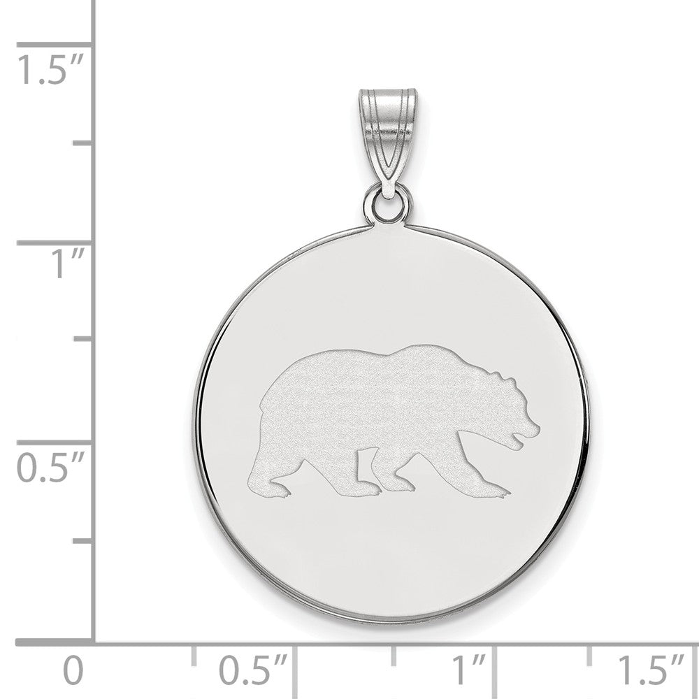 Alternate view of the NCAA 10k White Gold California Berkeley XL Disc Pendant by The Black Bow Jewelry Co.