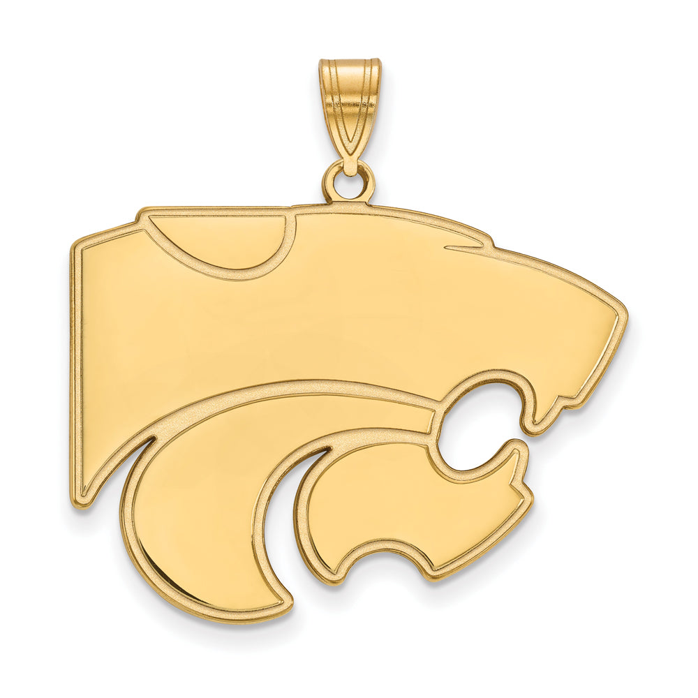 NCAA 10k Yellow Gold Kansas State XL Pendant, Item P21782 by The Black Bow Jewelry Co.