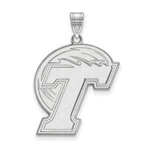 NCAA Sterling Silver Tulane U. XL Pendant - The Black Bow Jewelry Co.