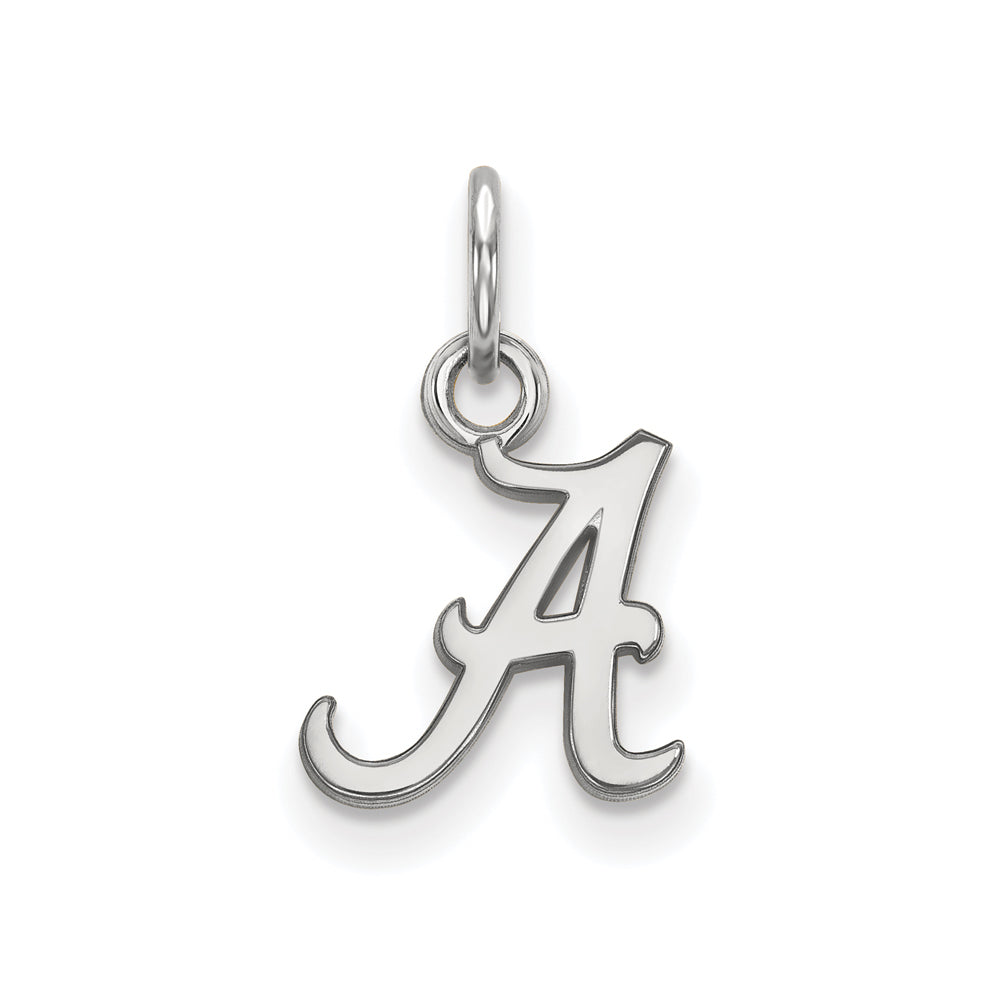 NCAA 10k White Gold U. of Alabama XS Charm or Pendant, Item P22707 by The Black Bow Jewelry Co.