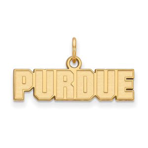 NCAA 14k Gold Plated Silver Purdue XS Pendant - The Black Bow Jewelry Co.