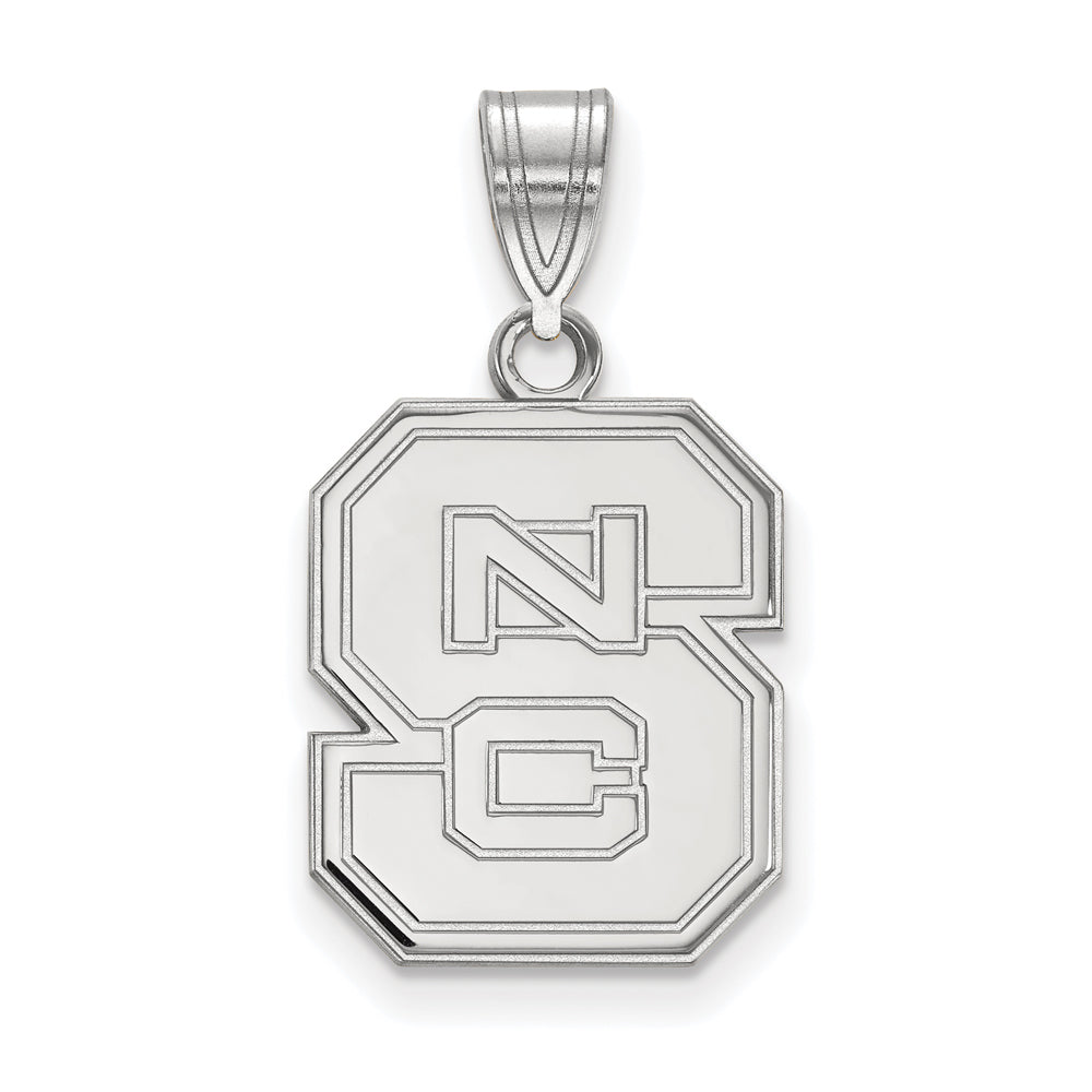NCAA 10k White Gold North Carolina Medium Pendant, Item P23340 by The Black Bow Jewelry Co.