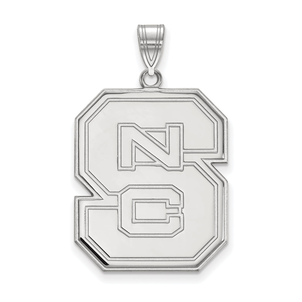 NCAA 14k White Gold North Carolina XL Pendant, Item P24000 by The Black Bow Jewelry Co.