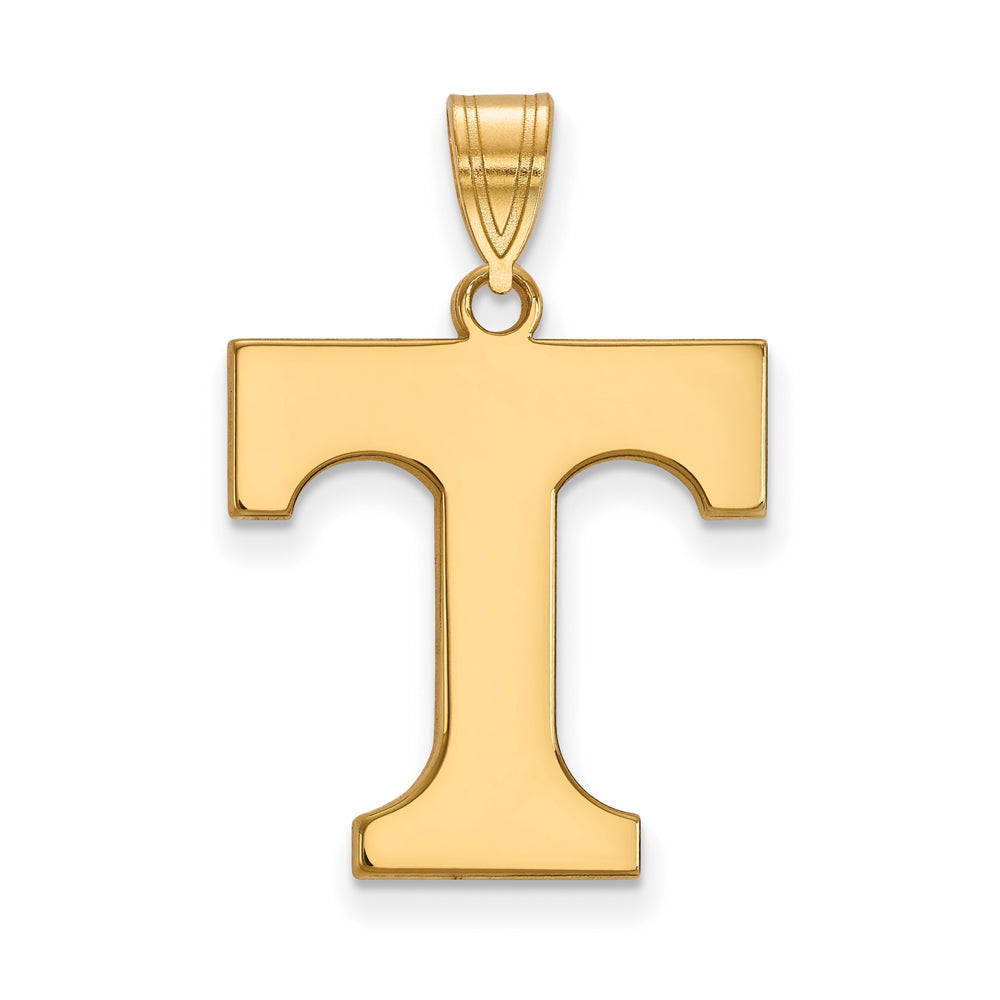 NCAA 14k Gold Plated Silver U. of Tennessee Large Pendant, Item P24745 by The Black Bow Jewelry Co.
