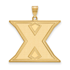 NCAA 14k Gold Plated Silver Xavier U. XL Pendant - The Black Bow Jewelry Co.