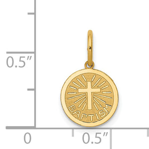Alternate view of the 14k Yellow Gold Small Baptism Charm, 10mm (3/8 inch) by The Black Bow Jewelry Co.