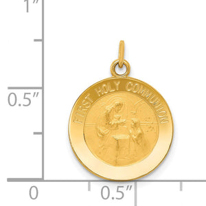 Alternate view of the 14k Yellow Gold First Holy Communion Charm, 15mm (9/16 inch) by The Black Bow Jewelry Co.