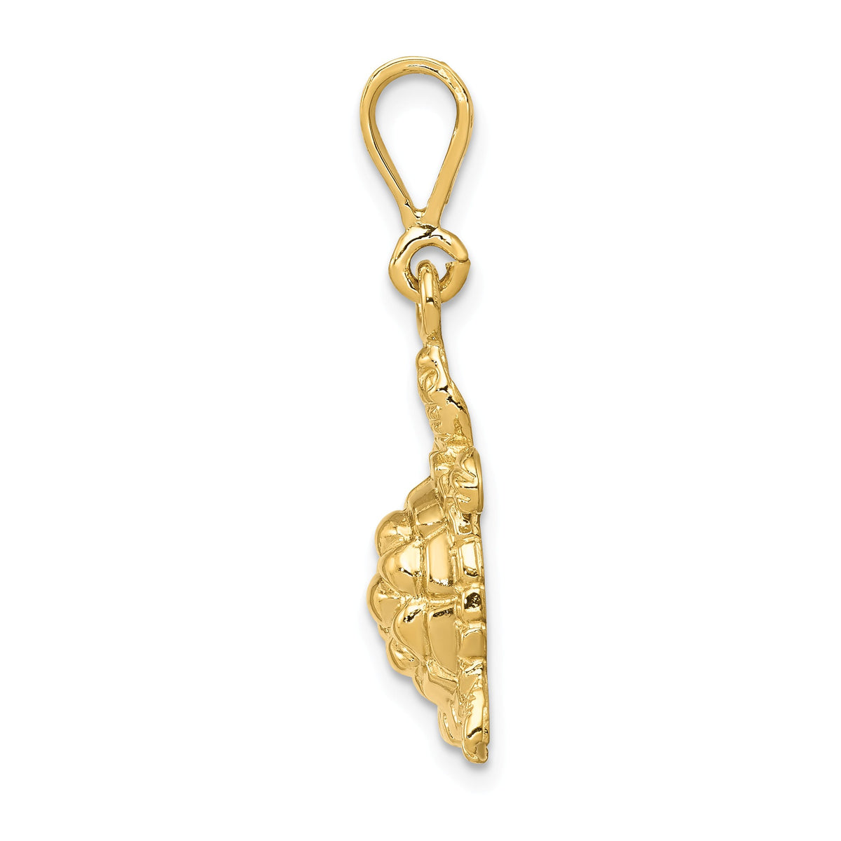 Alternate view of the 14k Yellow Gold 2D Turtle Pendant by The Black Bow Jewelry Co.