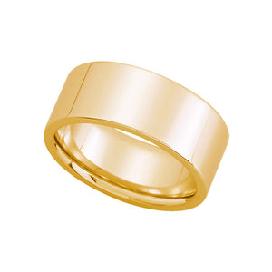 8mm Flat Comfort Fit Wedding Band in 14k Yellow Gold - The Black Bow Jewelry Co.