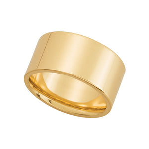 10mm Flat Comfort Fit Wedding Band in 14k Yellow Gold - The Black Bow Jewelry Co.