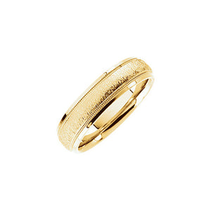 6mm Milgrain & Florentine Comfort Fit 14k Yellow Gold Band - The Black Bow Jewelry Co.