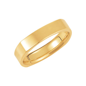 4mm Square Comfort Fit Polished Band in 14k Yellow Gold - The Black Bow Jewelry Co.