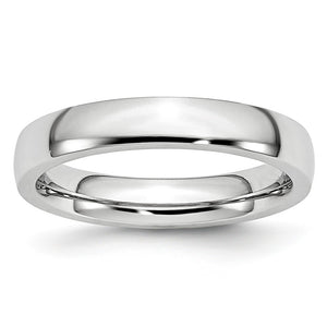 4mm Cobalt Polished Domed Comfort Fit Band - The Black Bow Jewelry Co.