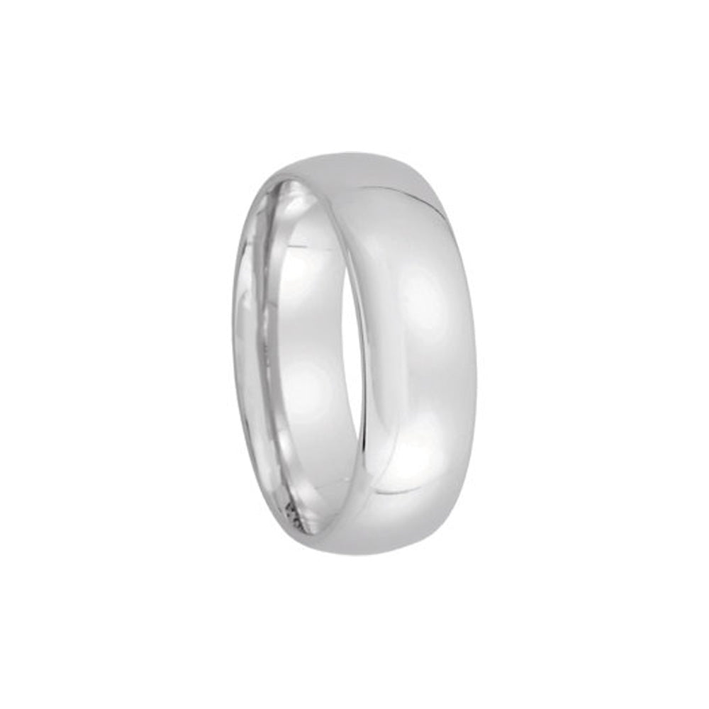 6mm Light Domed Comfort Fit Wedding Band in Platinum - The Black Bow Jewelry Co.