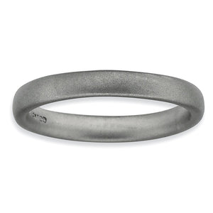 3.25mm Sterling Silver Stackable Satin Rounded Band - The Black Bow Jewelry Co.
