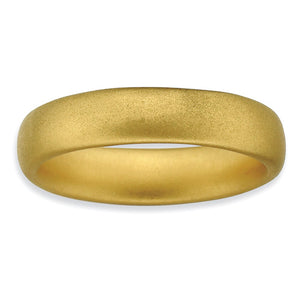 14k Yellow Gold Plate Sterling Silver Rounded Stackable 4.5mm Band - The Black Bow Jewelry Co.