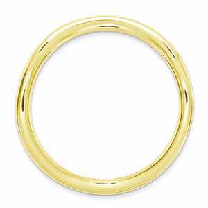 Alternate view of the 1.5mm Stackable 14K Yellow Gold Plated Silver Curved Smooth Band by The Black Bow Jewelry Co.