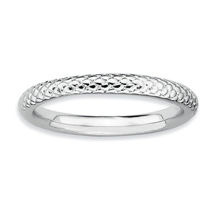 2.25mm Stackable Sterling Silver Cable Band - The Black Bow Jewelry Co.