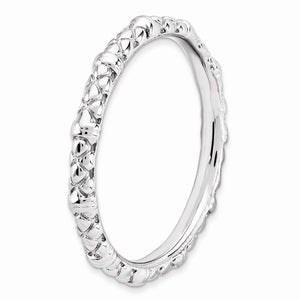 2.25mm Stackable Sterling Silver Popcorn Band