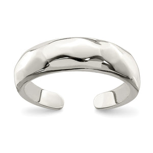 Polished Domed Sterling Silver Toe Ring - The Black Bow Jewelry Co.