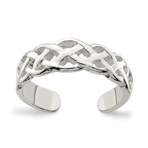 Celtic Weave Toe Ring in Sterling Silver - The Black Bow Jewelry Co.
