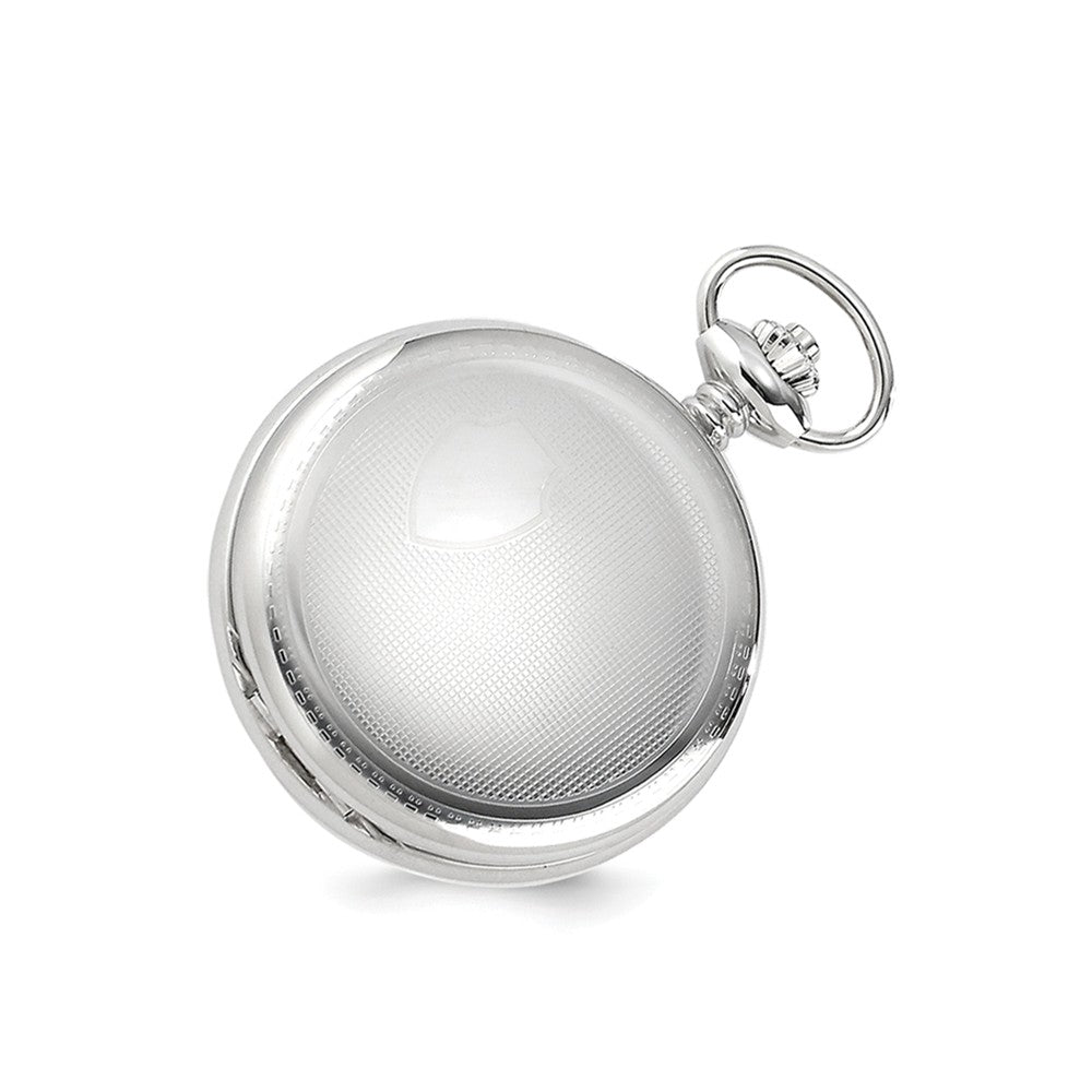 Alternate view of the Charles Hubert Chrome-finish Shield Design Pocket Watch 47mm by The Black Bow Jewelry Co.