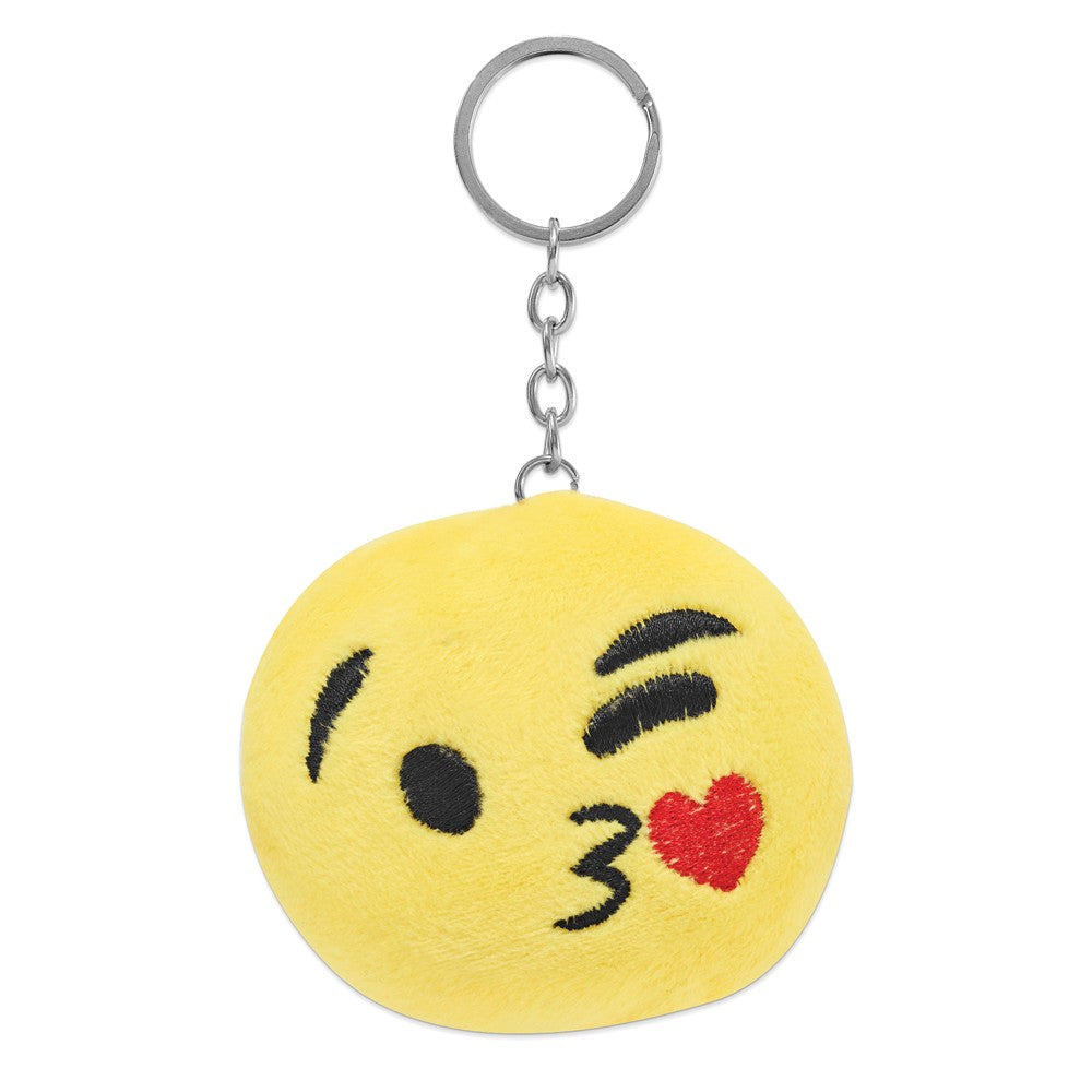 Alternate view of the Colori Ladies Happy Smile Kissy 30mm Black Key Ring/Watch Set by The Black Bow Jewelry Co.
