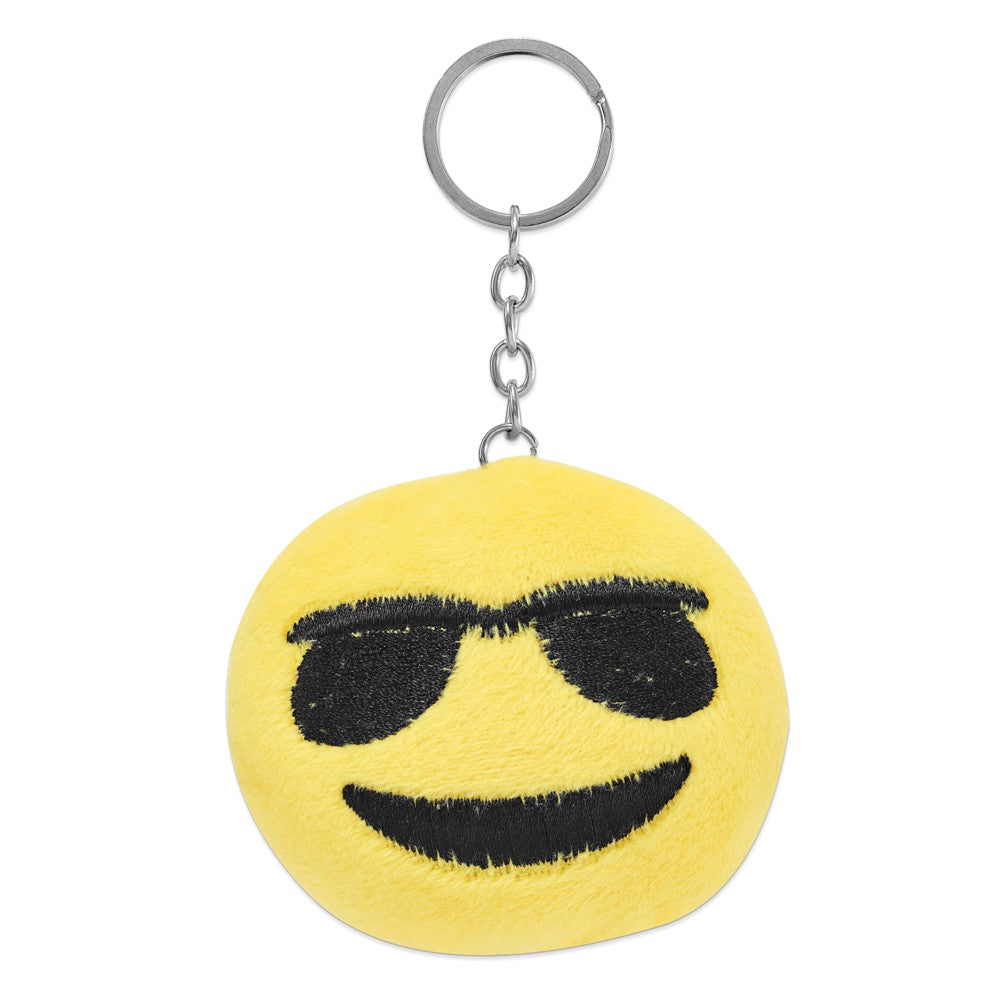 Alternate view of the Colori Ladies Happy Smile Sunglasses 30mm White Key Ring/Watch Set by The Black Bow Jewelry Co.