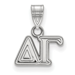 Sterling Silver Delta Gamma Small Pendant - The Black Bow Jewelry Co.