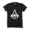 Image of Assassin's Creed Black Flag -Half Sleeve Black