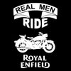 Image of Real Men Ride -Half Sleeve Black