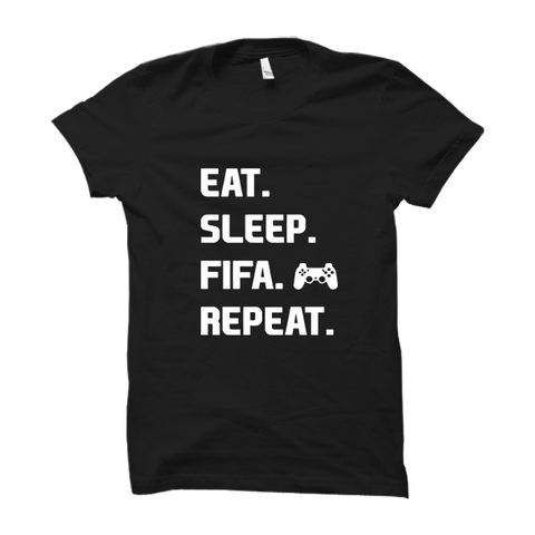 Eat Sleep Fifa Repeat-Half Sleeve