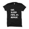 Image of Eat Sleep Fifa Repeat-Half Sleeve