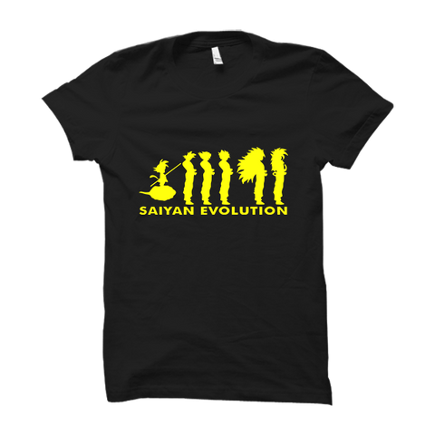Saiyan Evolution -Half Sleeve Black
