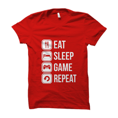 Eat Sleep Game Repeat- Red