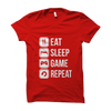 Image of Eat Sleep Game Repeat- Red