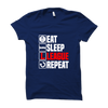 Image of Eat Sleep League Repeat-Half Sleeve Blue