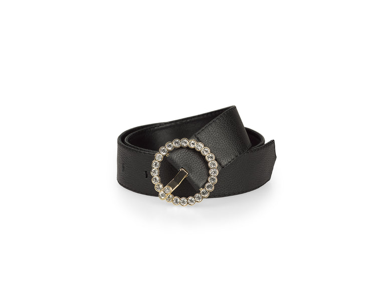 Leather Belt with crystals