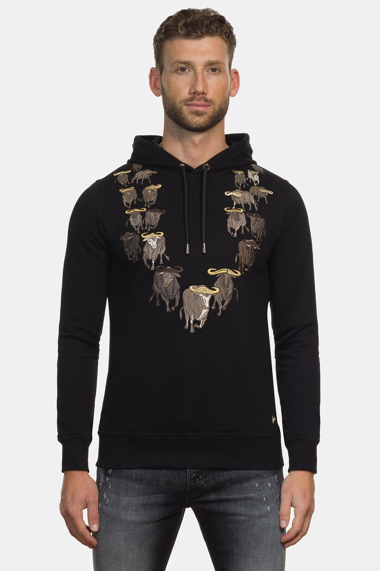 African Buffalos Hoodie Sweater - DIMORAL OFFICIAL