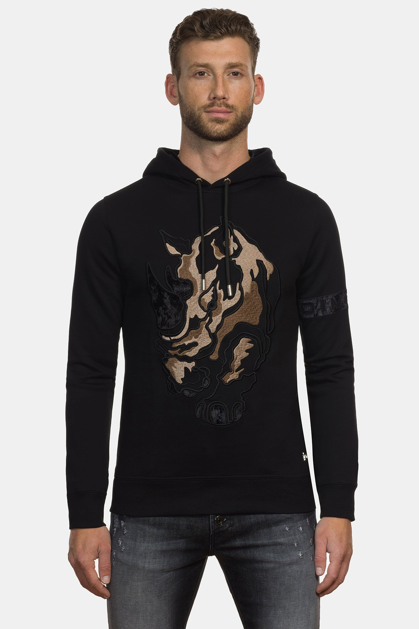 Black Rhinoceros Hoodie Sweater - DIMORAL OFFICIAL