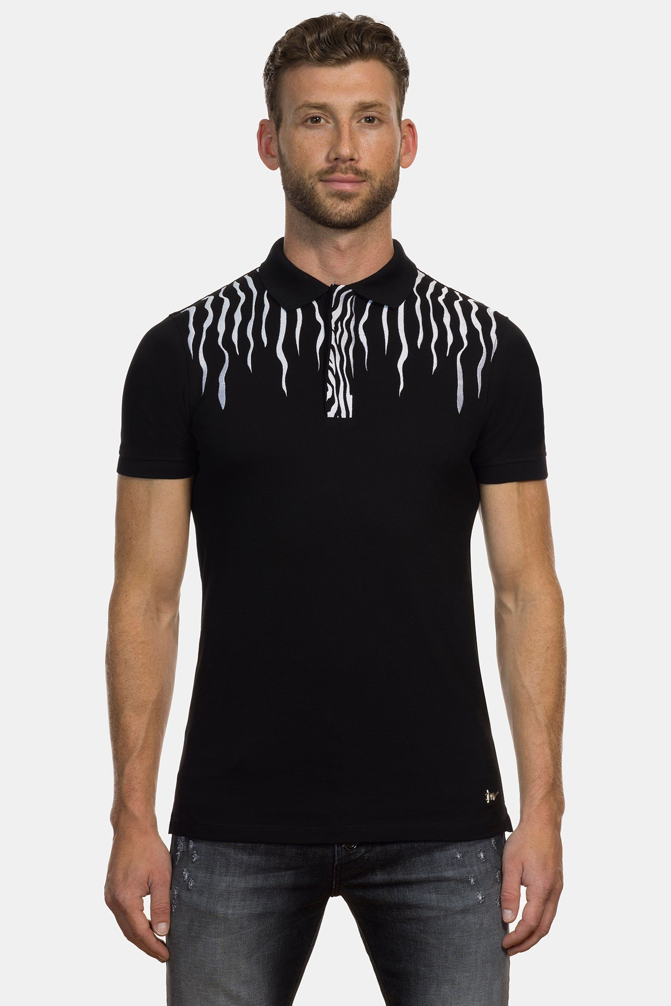 Black Equus Burchelli Zebra Polo - DIMORAL OFFICIAL