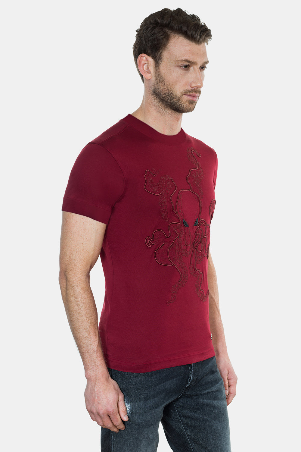 OCTOPUS EMBROIDERY T-SHIRT - DIMORAL OFFICIAL