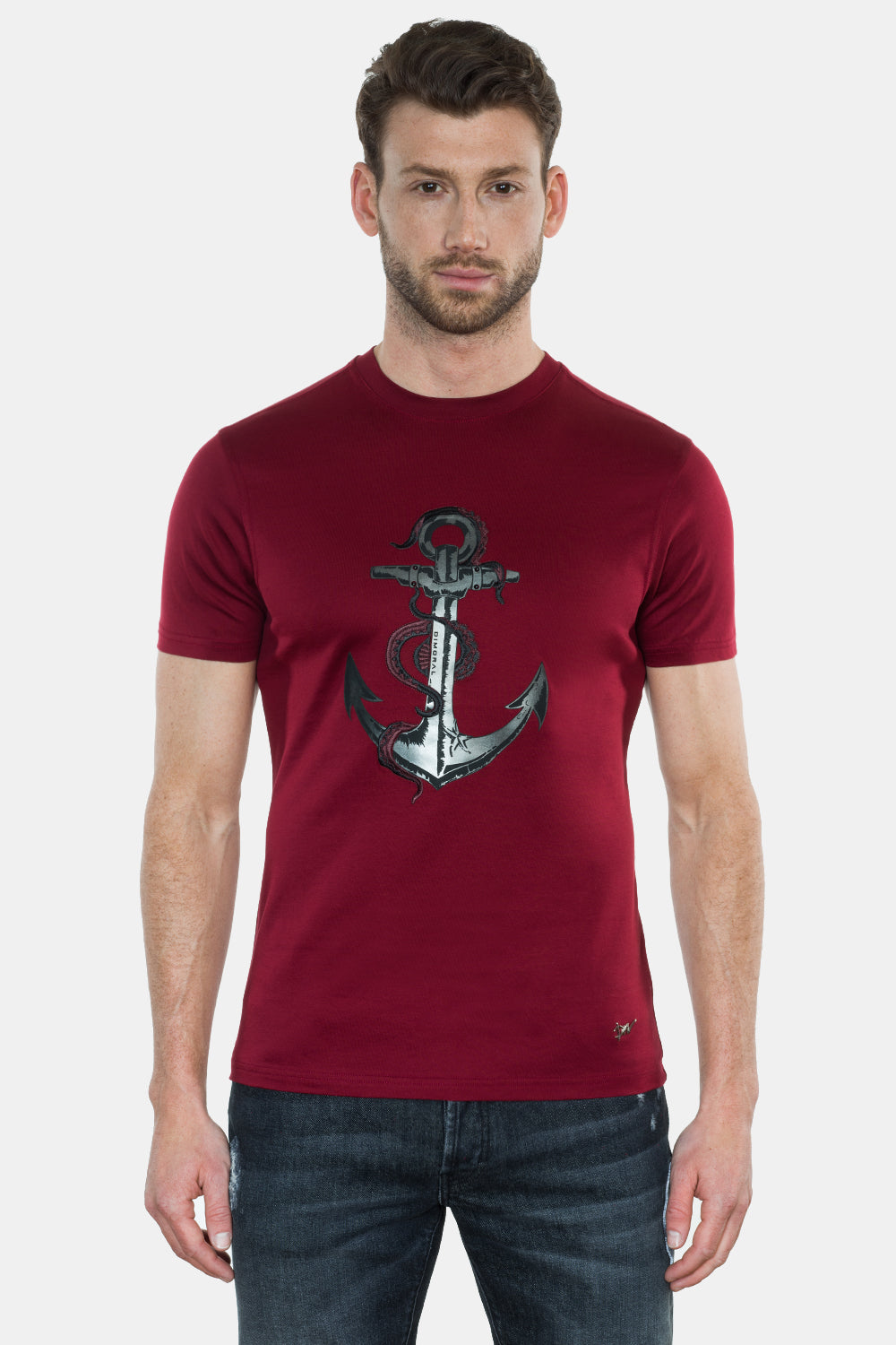 ANCHOR PRINT/EMBROIDERY T-SHIRT - DIMORAL OFFICIAL