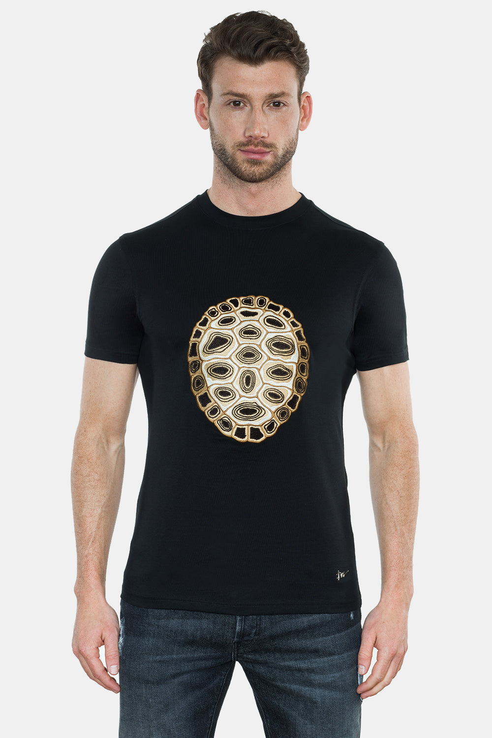 TURTLE SHIELD EMBROIRDERY T-SHIRT - DIMORAL OFFICIAL