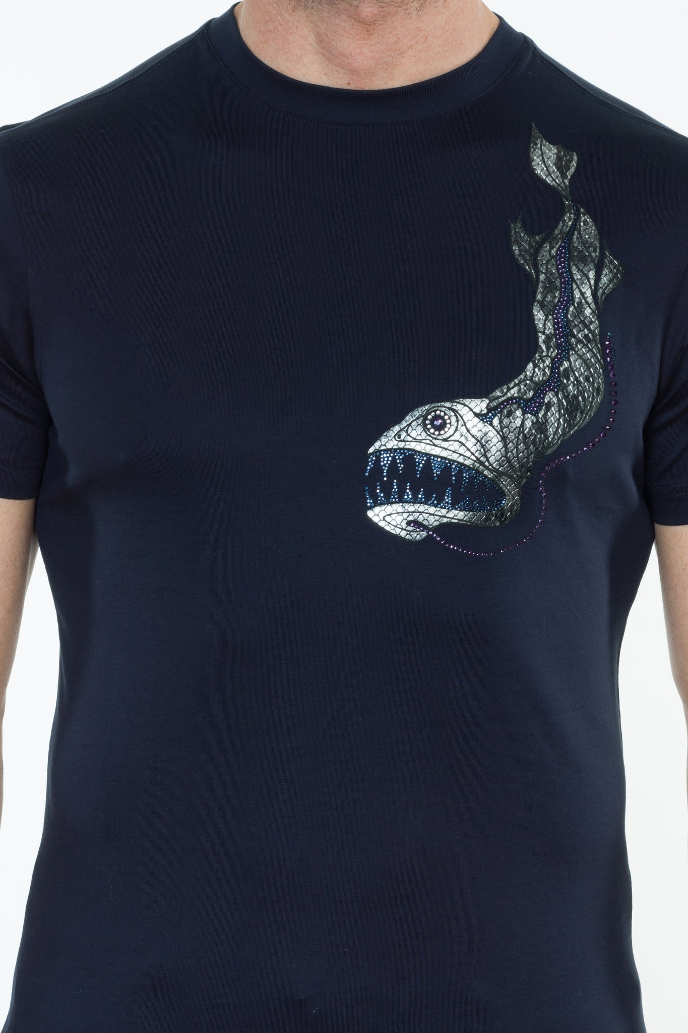 DRAGONFISH PRINT T-SHIRT - DIMORAL OFFICIAL